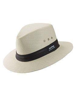 "Panama Jack Natural Matte Toyo Safari Sun Hat with Black Band, 2 1/2"" Brim, UPF (SPF) 50+ Sun Protection"