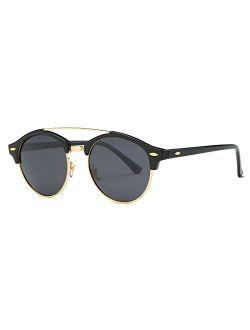 AEVOGUE Polarized Sunglasses Mens Semi-Rimless Retro Unisex Glasses AE0504