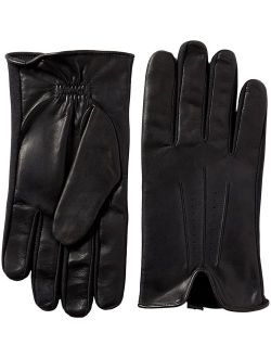 Men's Stretch Leather Touchscreen Texting Cold Weather Gloves With Warm Dual Lining