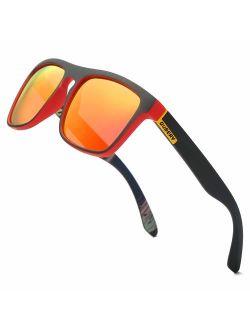 DUBERY Classic Polarized Sunglasses for Men Women Retro 100% UV Protection Driving Sun Glasses D731