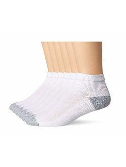 Mens Freshiq X-temp Comfort Cool Vent Ankle Socks, White/grey
