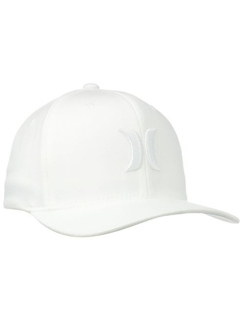 Hurley Men's One and Only Black White Hat Flex Fit