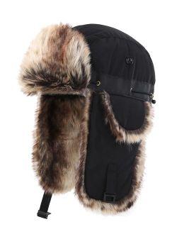 Connectyle Oudoor Unisex Faux Fur Lined Trapper Hat Warm Windproof Winter Russian Hats