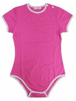Adult Baby Diaper Lover (abdl) Button Crotch Romper Onesie Pastel Series