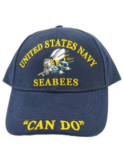 EagleEmblems Men's United States Navy Seabees Hat