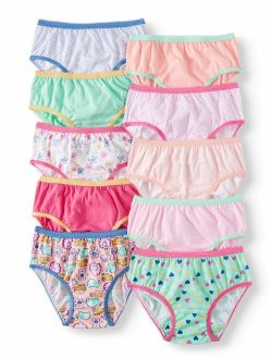 Wonder Nation Toddler Girls Underwear Cotton Brief Panties, 10-pack (Toddler Girls)