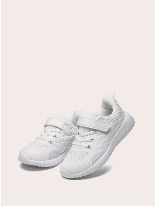 Toddler Kids Velcro Strap Lace-up Sneakers