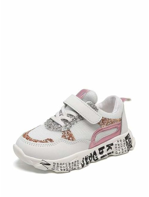 Toddler Girls Glitter Letter Print Sole Trainers