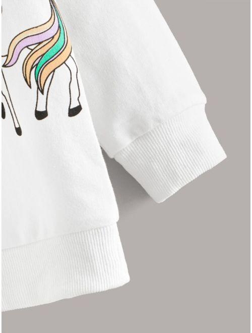 Toddler Girls Unicorn Graphic Sweatshirt