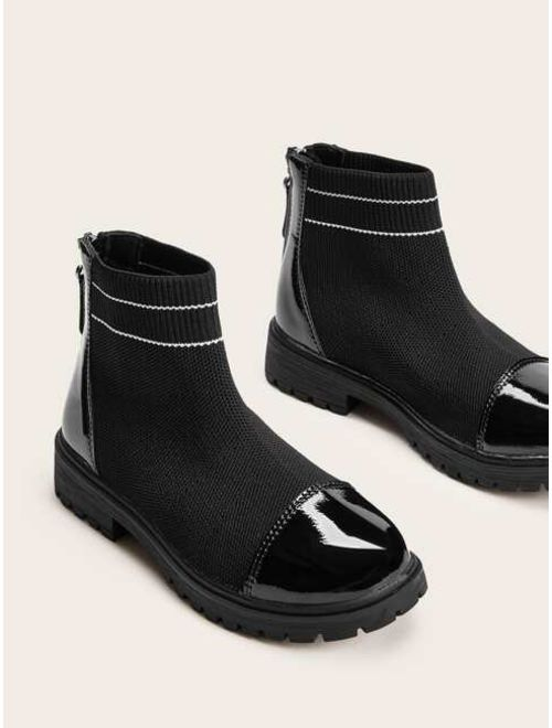 Girls Zip Back Ankle Boots