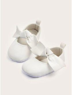 Baby Girls Bow Decor Flats