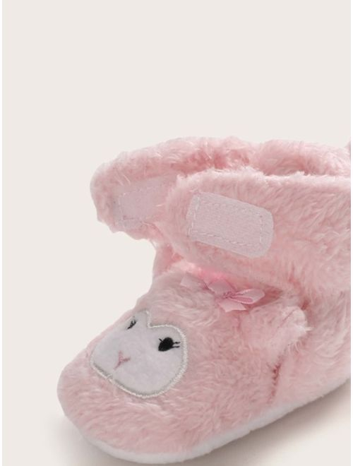 Baby Girl Sheep Shaped Velcro Strap Boots