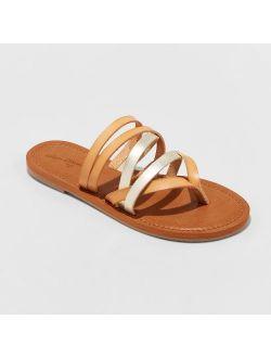 Multi Strap Toe Slide Sandal - Universal Thread™