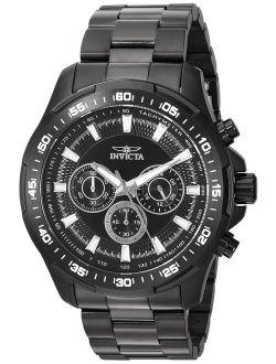 Men's Speedway Quartz Watch With Stainless-steel Strap, Black, 24 (model: 22785)