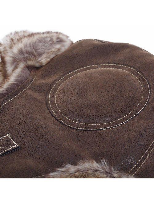 Janey&Rubbins Unisex Winter Knit Russian Ushanka Cossack Trapper Pilot Aviator Cap Hat