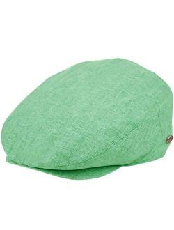 Epoch hats Men's Linen Flat Ivy Gatsby Summer Newsboy Hats
