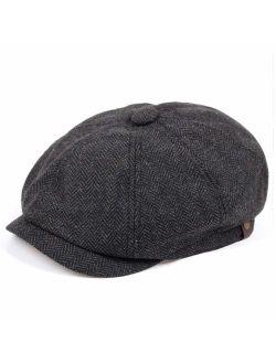 VORON Newsboy caps Cotton Wool Flat hat Hats for Men Ivy hat Golf Adjustable Driving hat