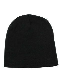 Top Level Short Plain Beanie - Winter Unisex Plain Knit Hat