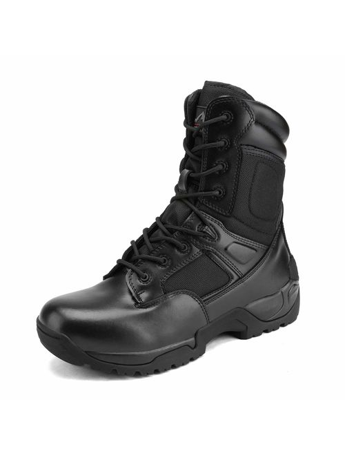NORTIV 8 Men's Military Tactical Work Boots Hiking Motorcycle Combat Bootie