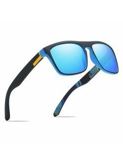 Polarized Sports Sunglasses Driving Glasses Shades for Men/Women Square Sun glasses Classic Design Mirror Sunglasses