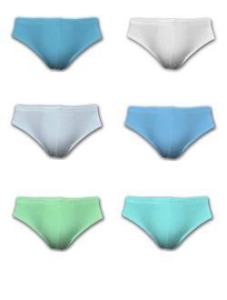 Men's Cotton Color Sport Briefs Underwear - 6 Pack & 12 Pack