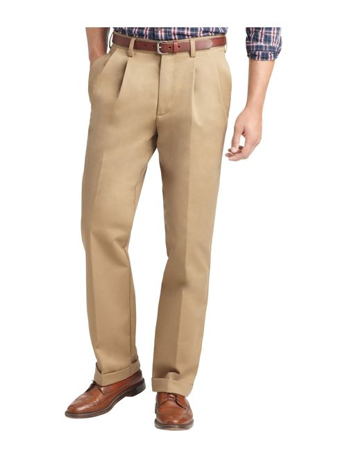 IZOD Men's American Chino Double Pleated Work Pant