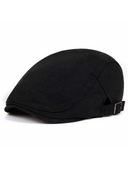 VORON Newsboy Hats for Men Cotton Flat hat Adjustable Newsboy hat Autumn and Winter Ivy Gatsby Driving hat Hats for Men