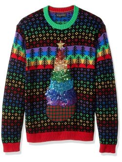Men's Ugly Christmas Sweater Trees-hanukkah