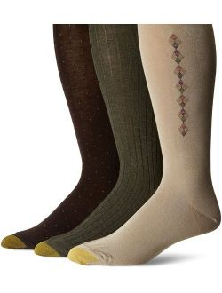 Men's Over The Calf Dress Socks, 3 Pairs