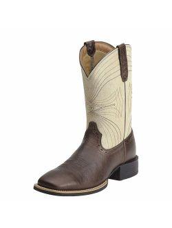 Men's Sport Wide Square Toe Western Cowboy Boot