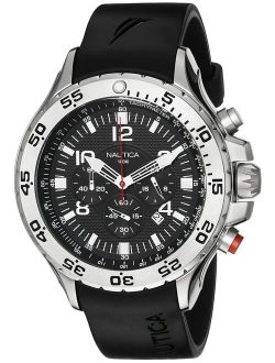 Men's N14536 Nst Stainless Steel Watch With Black Resin Band