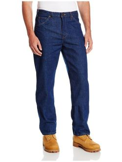 Occupational Workwear Cr393rnb Denim Cotton Relaxed Fit Men's Industrial Jean With Straight Leg, Indigo Blue