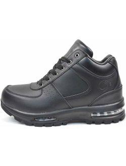 LABO Men's Black Hiking Leather Boot Air Heel #5712