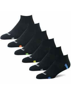 BERING Men's Athletic Ankle Socks for Running, Golf, and Workout (6 Pack)
