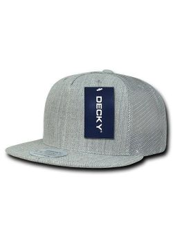 DECKY 5 Panel Flat Bill Trucker Cap Hats