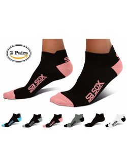 SB SOX Lite Plantar Fasciitis Socks for Men & Women (2 Pairs) - Provide Relief for Light to Moderate Plantar Fasciitis, Heel Pain - Perfect for Running, Cycling, Sports,