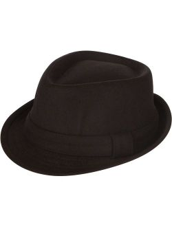 Sakkas Unisex Structured Wool Fedora Winter Hat (3 Colors)