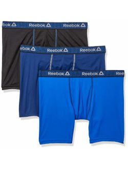 Mens 3 Pack Performance Quick Dry Moisture Wicking Boxer Briefs