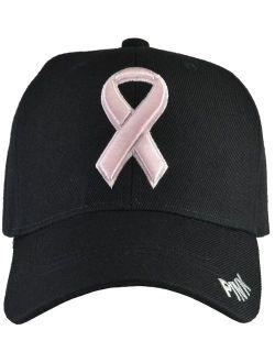 Incrediblegifts Breast Cancer Awareness Hats - Pink Ribbon (15 Colors & Styles)
