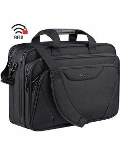 "KROSER 18"" Laptop Bag Premium Laptop Briefcase Fits Up to 17.3 Inch Laptop Expandable Water-Repellent Shoulder Messenger Bag Computer Bag for Travel/Business/School/Men/W"