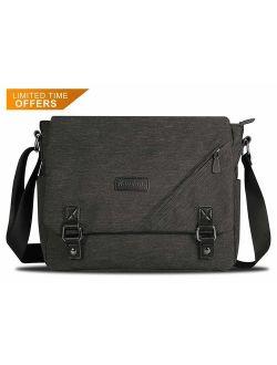 """ibagbar Laptop Messenger Bag Canvas Shoulder Bag 14"""" Computer Bag Men Women Satchel Bag Bookbag"""