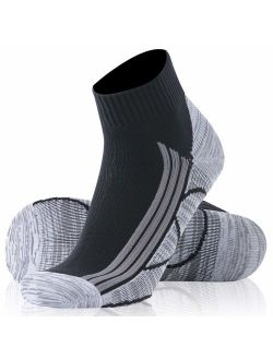 SuMade 100% Waterproof Breathable Socks, Unisex Cushioned Wicking Dry Fit Outdoor Sports Hiking Running Skiing Socks 1 Pair