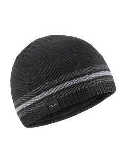 OMECHY Mens Winter Beanie Hat Oversized Warm Knit Fleece Lined Short Beanie Ski Skull Cap