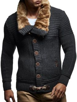 Men's Knitted Cardigan | Long-sleeved Slim Fit Hoodie | Stylish Button Up Cardigan With Shawl Collar For Men