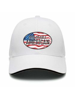 DEPLORABLE AMERICAN Trump Unisex snap backs cap for Mens or Womens