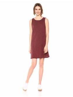 - Daily Ritual Women's Lightweight Lived-in Cotton Sleeveless Boat-neck Dress