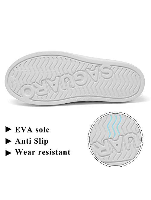 SAGUARO Mens Womens Kids Lightweight Breathable Slip-On Sneaker Garden Clogs Beach Sandals Water Shoes
