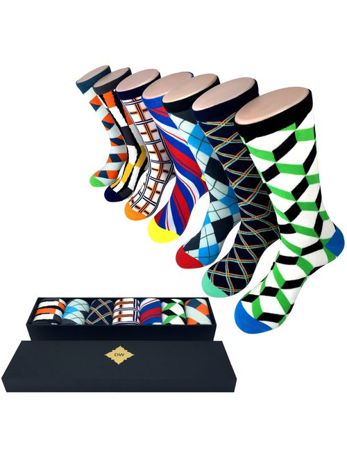 New 2020 Designs - Gift Box Set Men's Fun and Colorful Designer Gift Set, 7 pairs included, by The Dapper Way