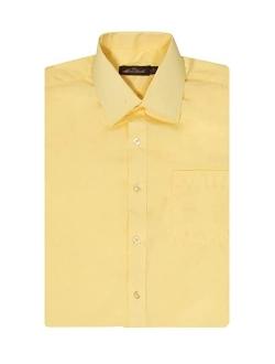 Alberto Danelli Men's Short Sleeve Button Down Cotton Blend Dress Shirt