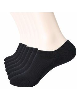 No Show Socks Mens 7 Pairs Low Cut Ankle Men Invisible Socks Fit Size 6-9/10-12
